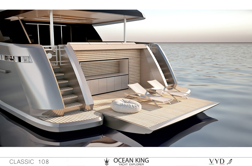 Image for article Ocean King showcases latest New Classic 108 model