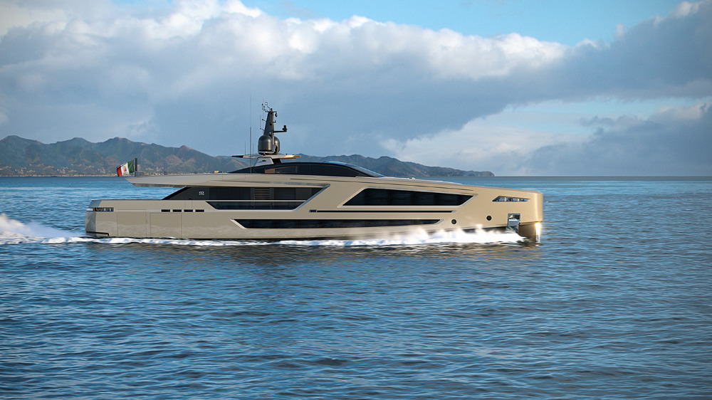 Image for article CCN 40m superyacht on schedule for 2020