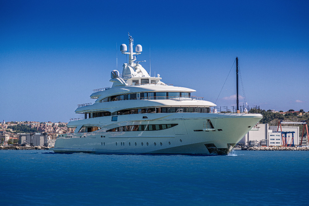 Image for article CRN delivers new 79m superyacht