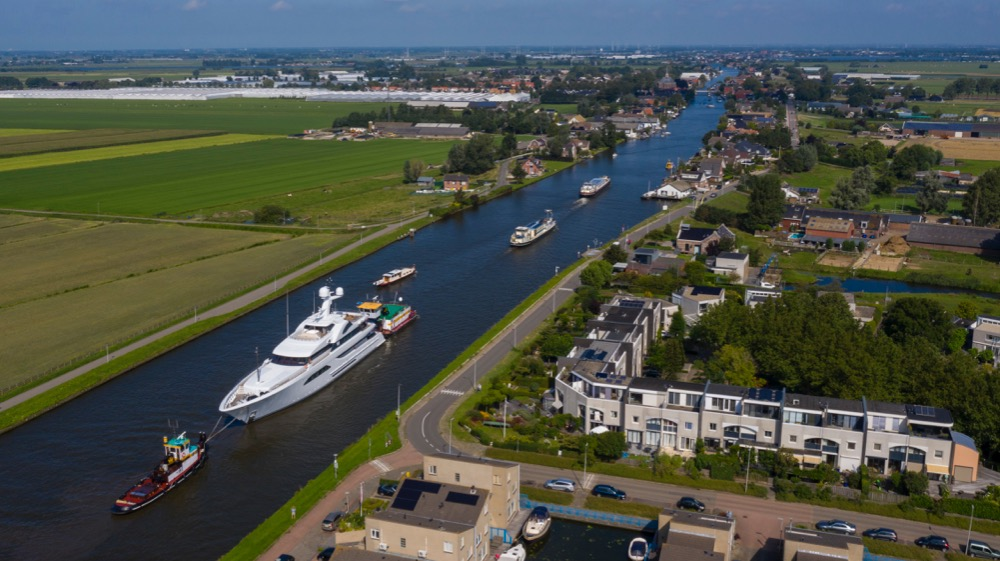 Image for article W arrives at Feadship for six-month refit