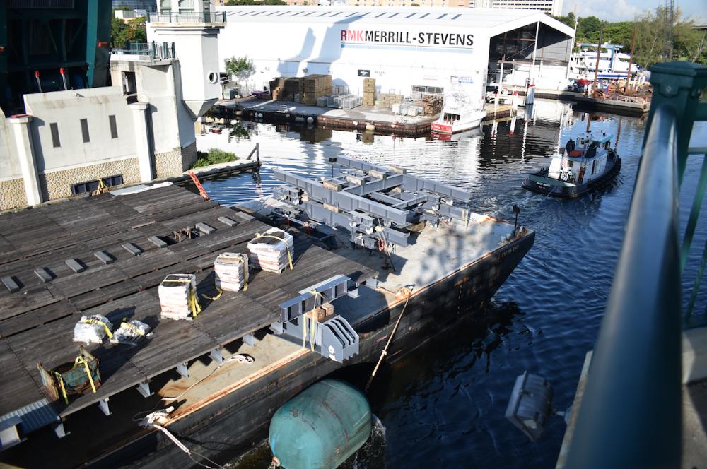 Image for article 2,700-tonne shiplift delivered to RMK Merrill-Stevens Shipyard