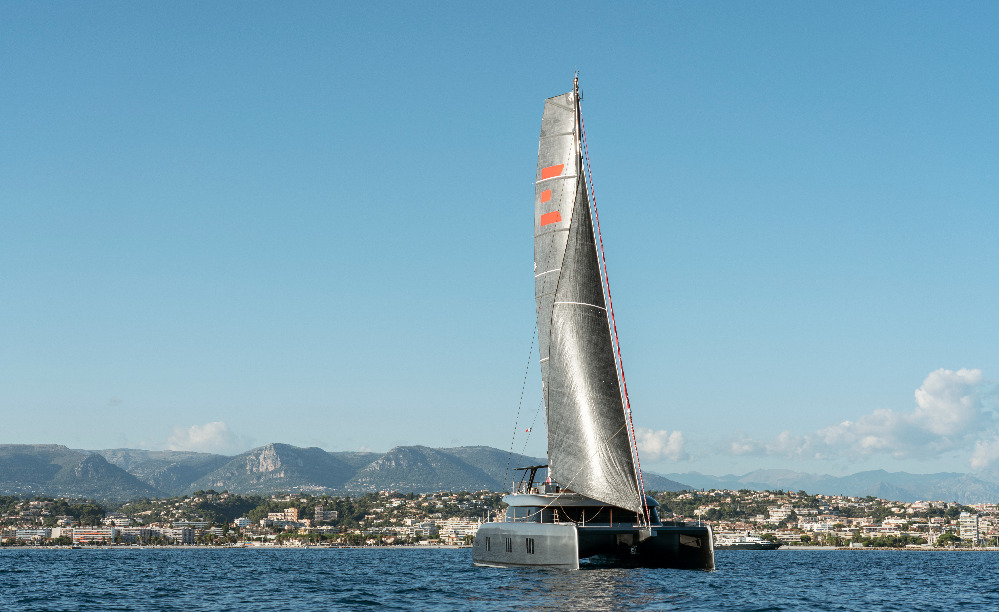 Image for article Catamaran hints at path to full-electric