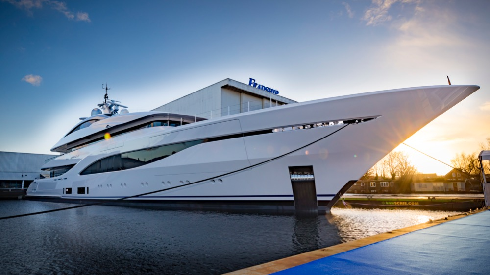 Image for article Feadship celebrates launch of 75m Arrow