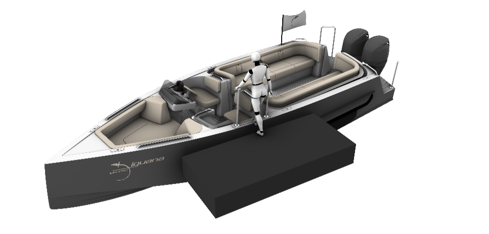 Image for article Iguana Yachts launches amphibious day limo
