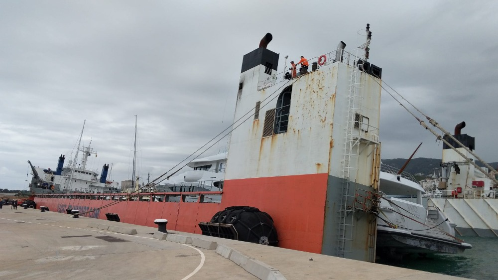 Image for article Update: yacht transport vessel suffers ballasting problem in Palma