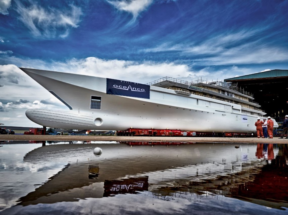 Image for article Oceanco's latest project enters outfitting stage