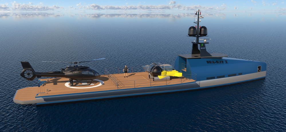 Image for article SEA-KIT unveils 'uncrewed' superyacht support vessel concept