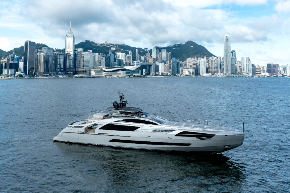 Image for article Insights into Pershing's first all-aluminium superyacht