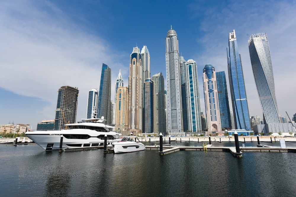 Image for article Dubai Harbour Marina welcomes first superyacht