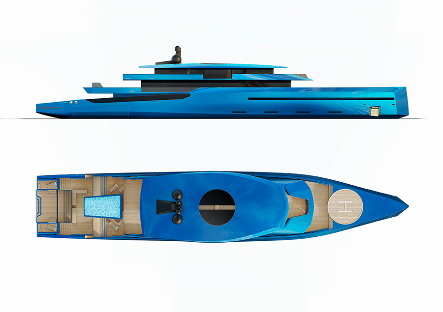 Image for article BYD Group unveils new superyacht concept with triple hybrid propulsion