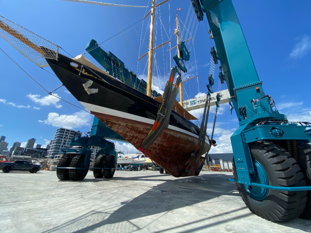 Image for article New 820-tonne travel lift operational at Orams Marine