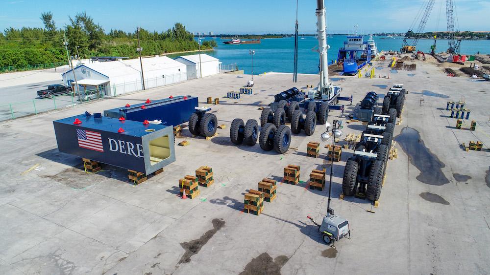 Image for article World's largest mobile boat hoist arrives at Derecktor Ft. Pierce