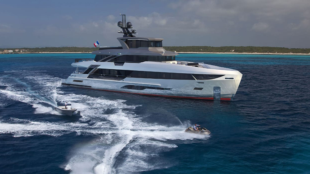 Image for article First B107 in build at Bering Yachts