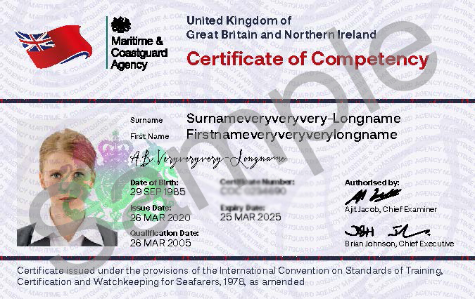 Image for article MCA announces new certificates for seafarers