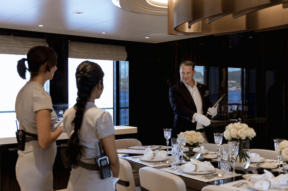 Image for article Butler training for superyacht crew
