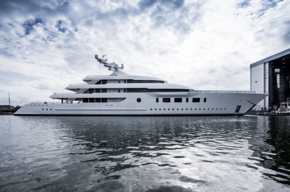 Image for article Feadship celebrates launch of 95m Bliss