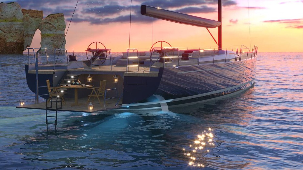 Image for article Hybrid technology in the 30-40m sailing yacht market