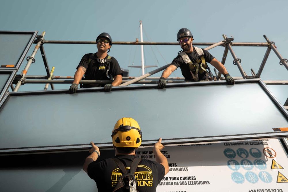 Image for article Sustainable scaffolding in Astilleros De Mallorca