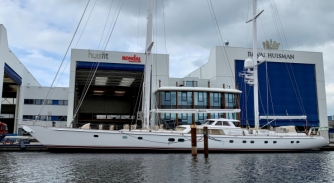 Image for S/Y Juliet undergoes hybrid conversion