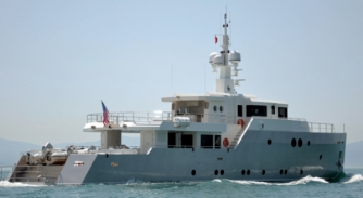 Image for 35m Tansu motoryacht Siempre lost to fire in Sardinia